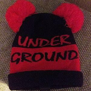 Under ground kulture double pom beanie